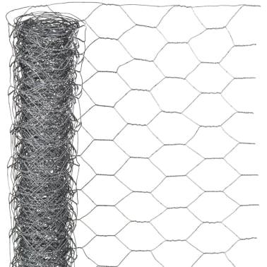 Nature Malla de alambre hexagonal acero galvanizado 0,5x10 m 25 mm[1/3]