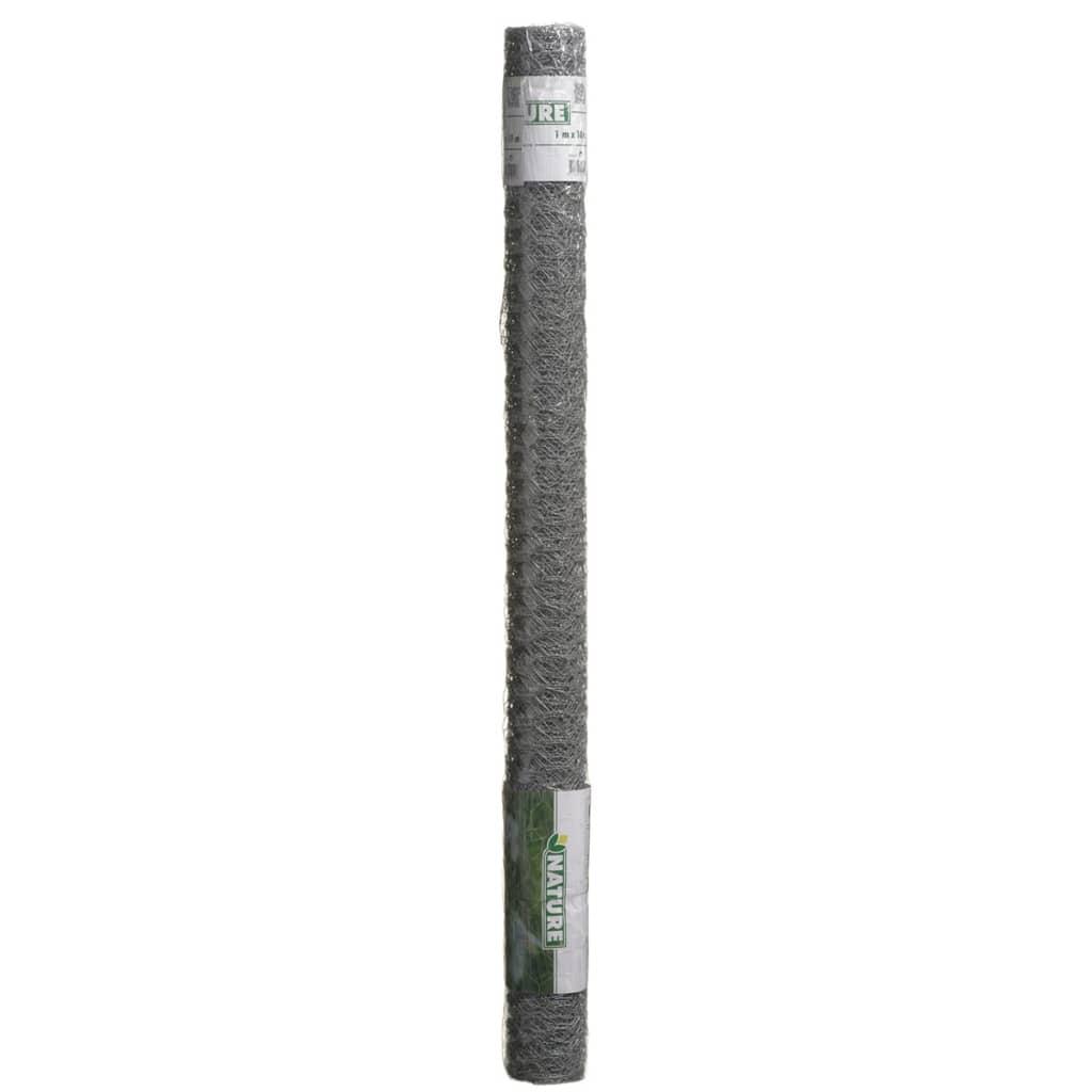 Nature Gaas zeshoekig 1x10 m 25 mm gegalvaniseerd staal