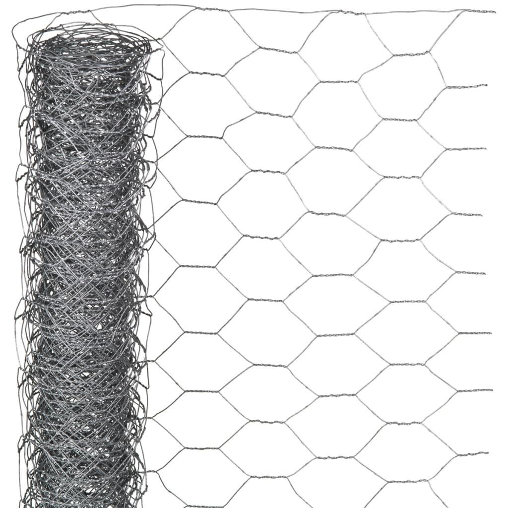 Nature Plotové pletivo šestiúhelníkové 0,5x10 m 40 mm pozinkovaná ocel