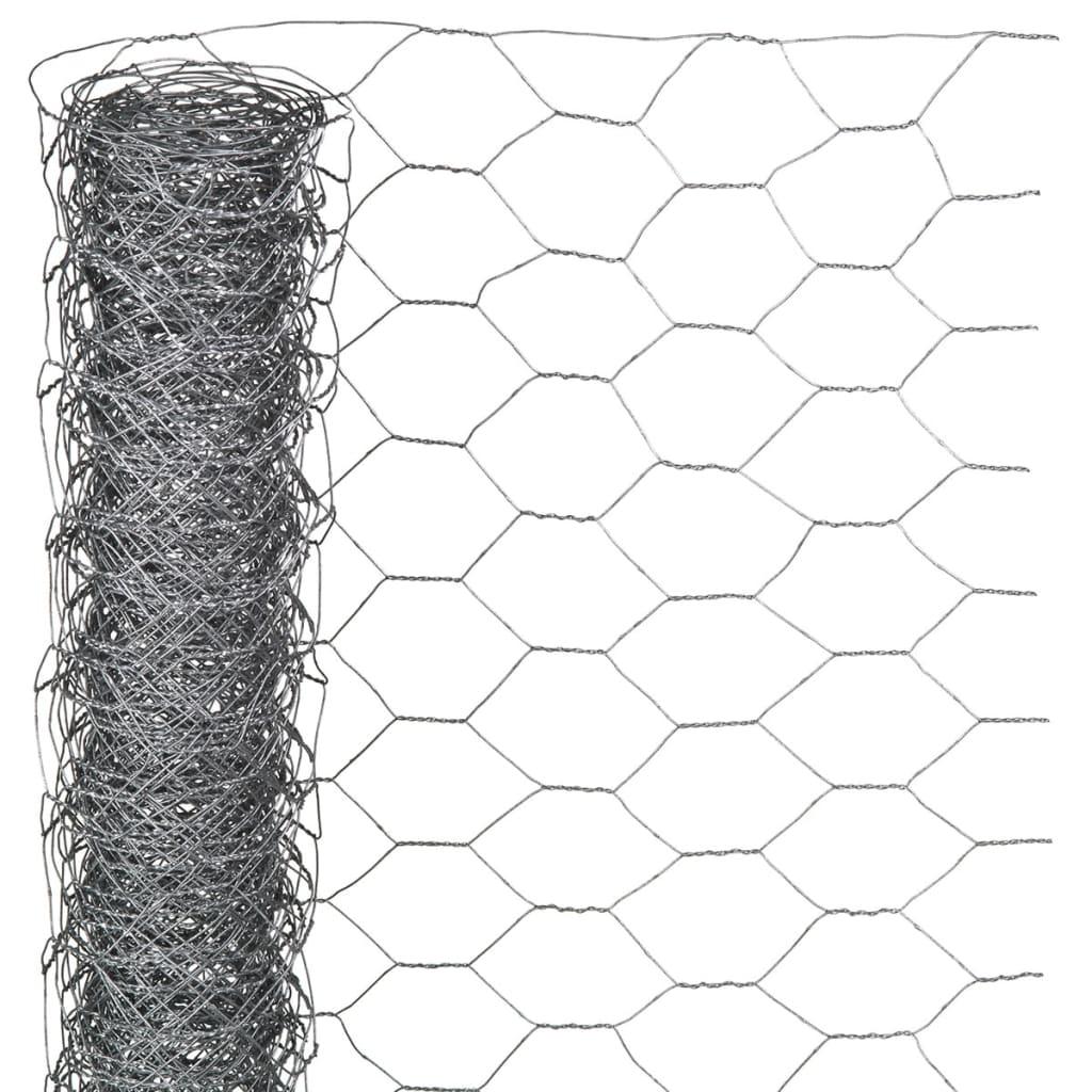Nature Gaas zeshoekig 1x5 m 40 mm gegalvaniseerd staal