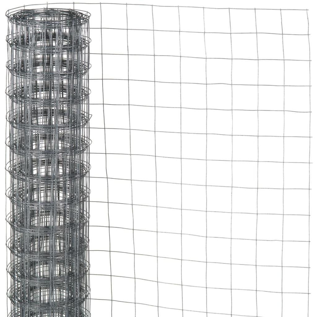 Nature Gjerdenetting firkantet grå 1x2,5 m 6050254