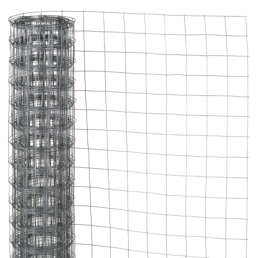 Afbeelding van Nature Gaas 1x5 m vierkant gegalvaniseerd staal 6050255
