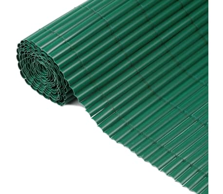 Nature Clôture de jardin PVC Vert 1,5 x 5 m 6050332[1/3]