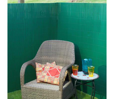 Nature Clôture de jardin PVC Vert 1,5 x 5 m 6050332[2/3]