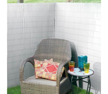 Nature Écran de jardin à double face PVC 1x3 m Blanc[2/3]
