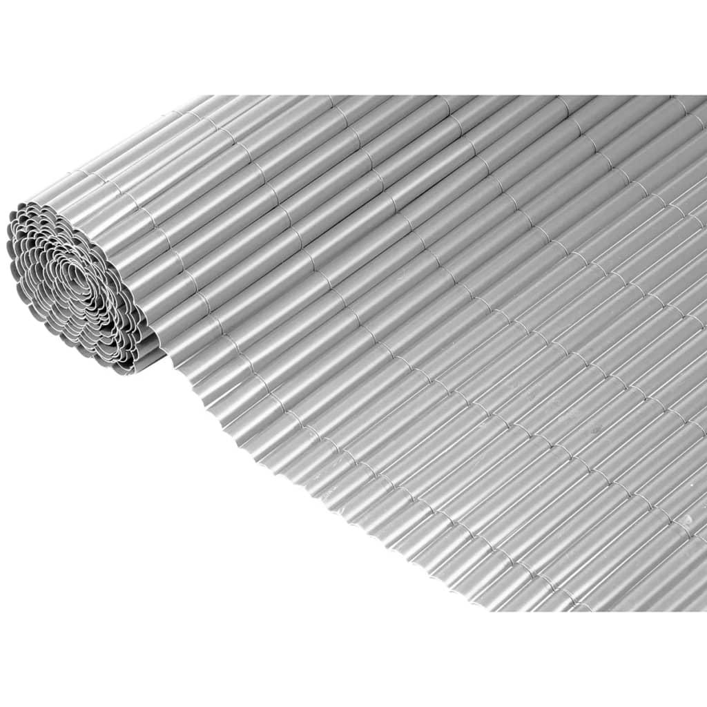 Enkelwandig tuinscherm grijs 1x3m