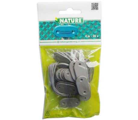 Nature Kit de fixation pour clôture de jardin 27 pcs Gris 6050396[2/2]