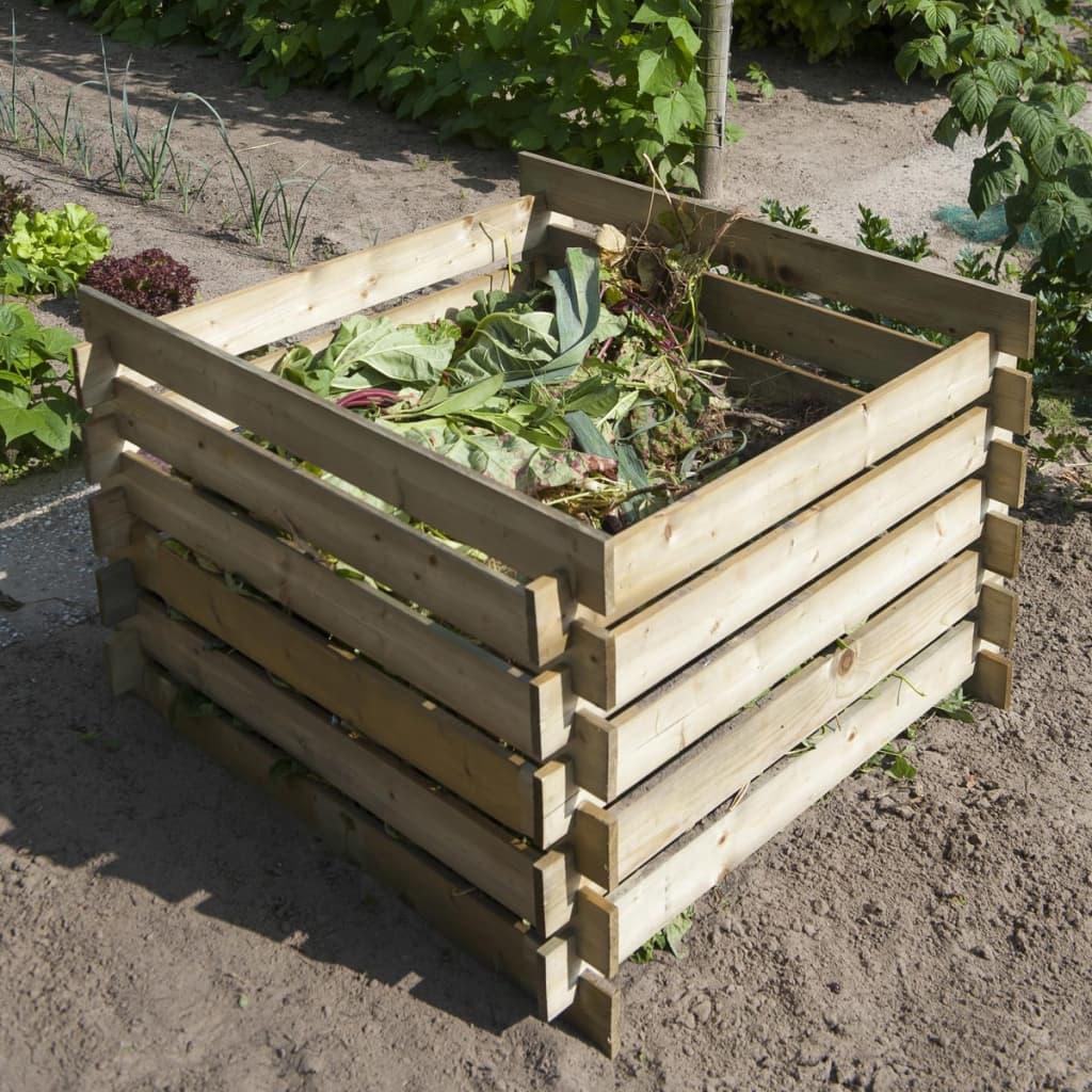 Nature Pubelă pentru compost din lemn, 650 L, 6070480 poza vidaxl.ro