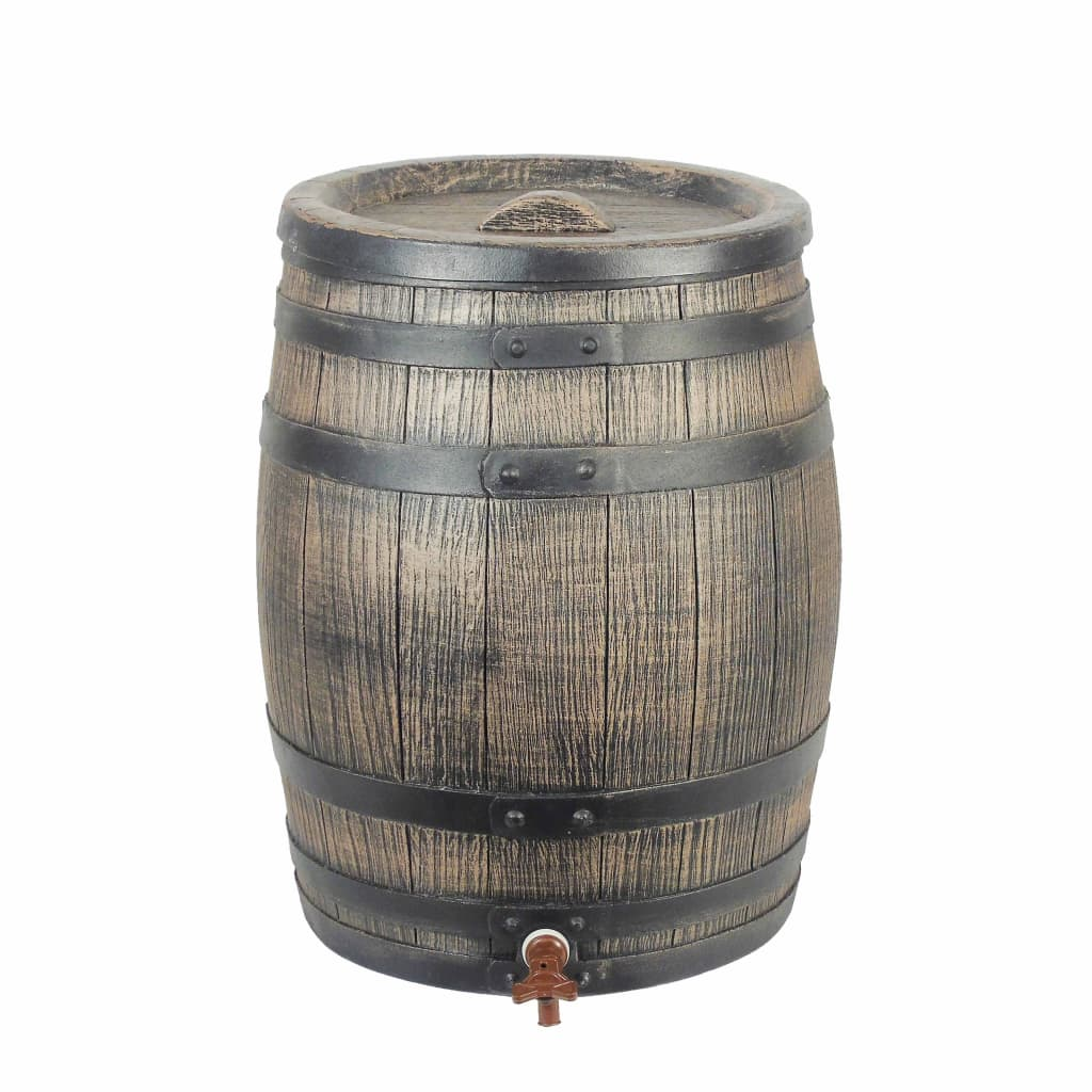 Nature Butoi de apă de ploaie cu aspect de lemn, maro, 38x49,5 cm, 50L poza 2021 Nature