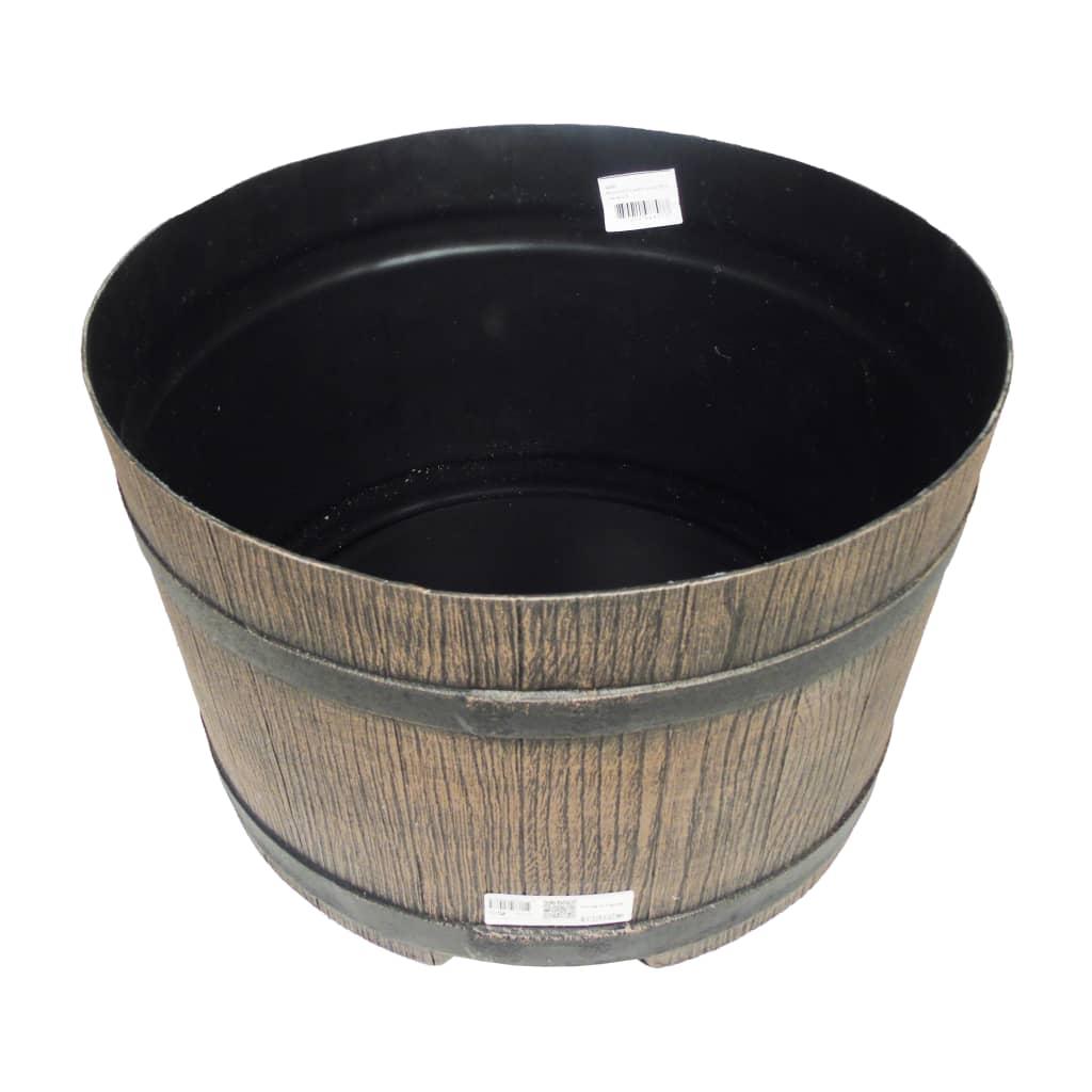 Nature Standaard voor regenton met hout-look 45x28,5 cm bruin