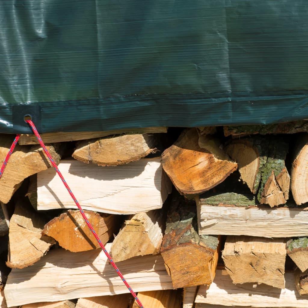 Nature afdekzeil hout 3 x 4 m PE groen 6072418