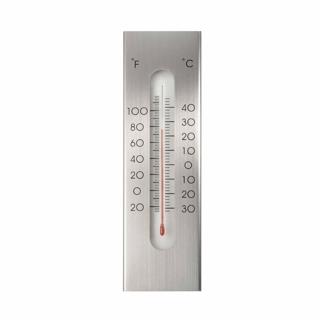 Nature Wandthermometer 7x1x23 cm aluminium