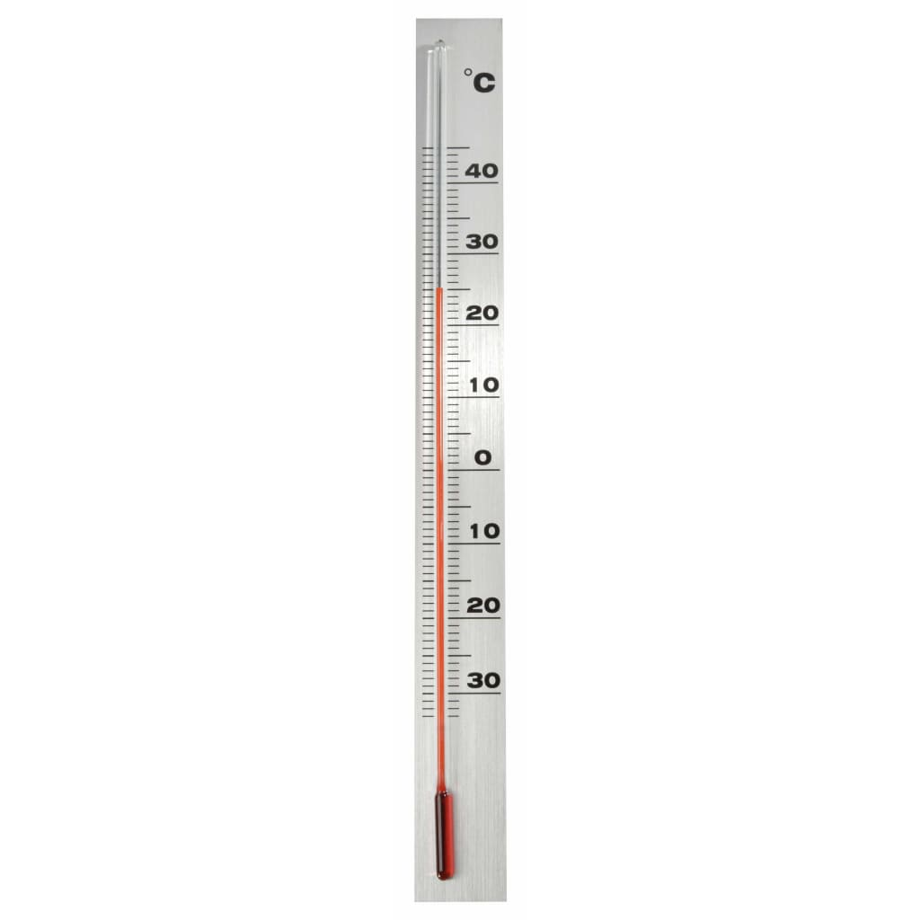 Nature Wandthermometer 3,8x0,6x37 cm aluminium
