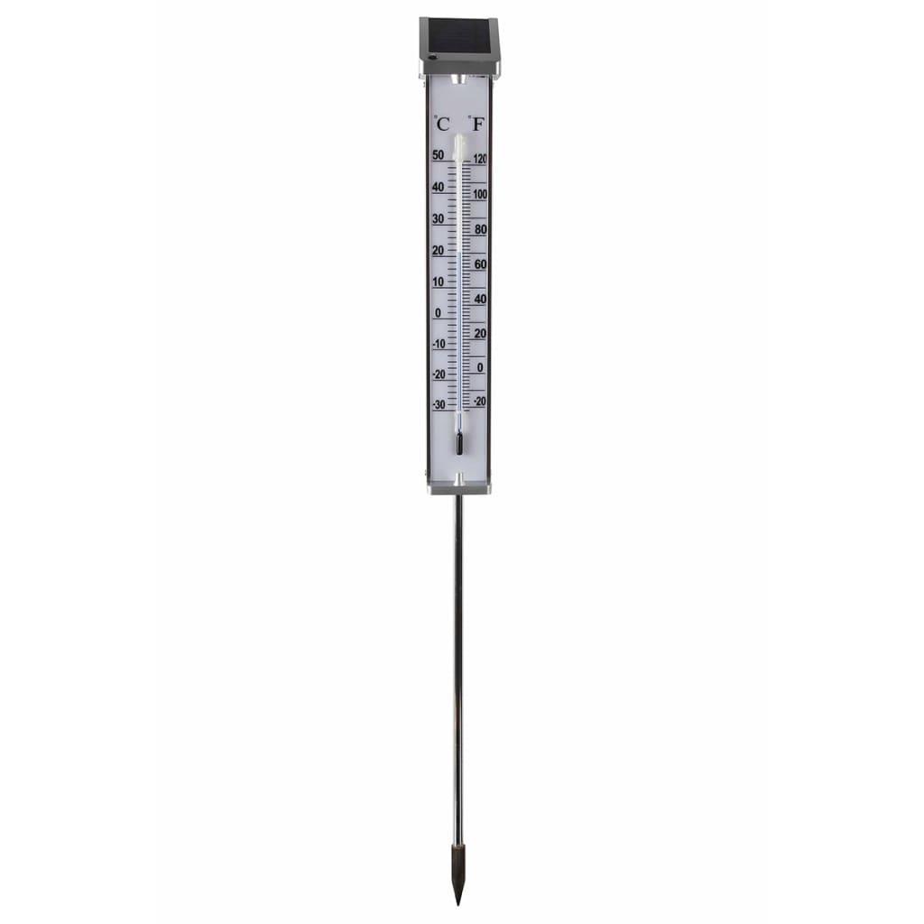 Nature Utetermometer med Solcelledrevet LED Lys 6080066