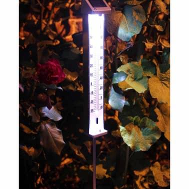 Nature Außenthermometer mit solarbetriebenem LED-Licht 6080066[3/5]