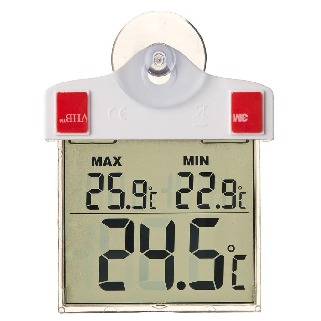 Nature Raamthermometer digitaal 13x10x3 cm 6080078