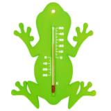 Nature Termómetro de pared de exterior rana verde