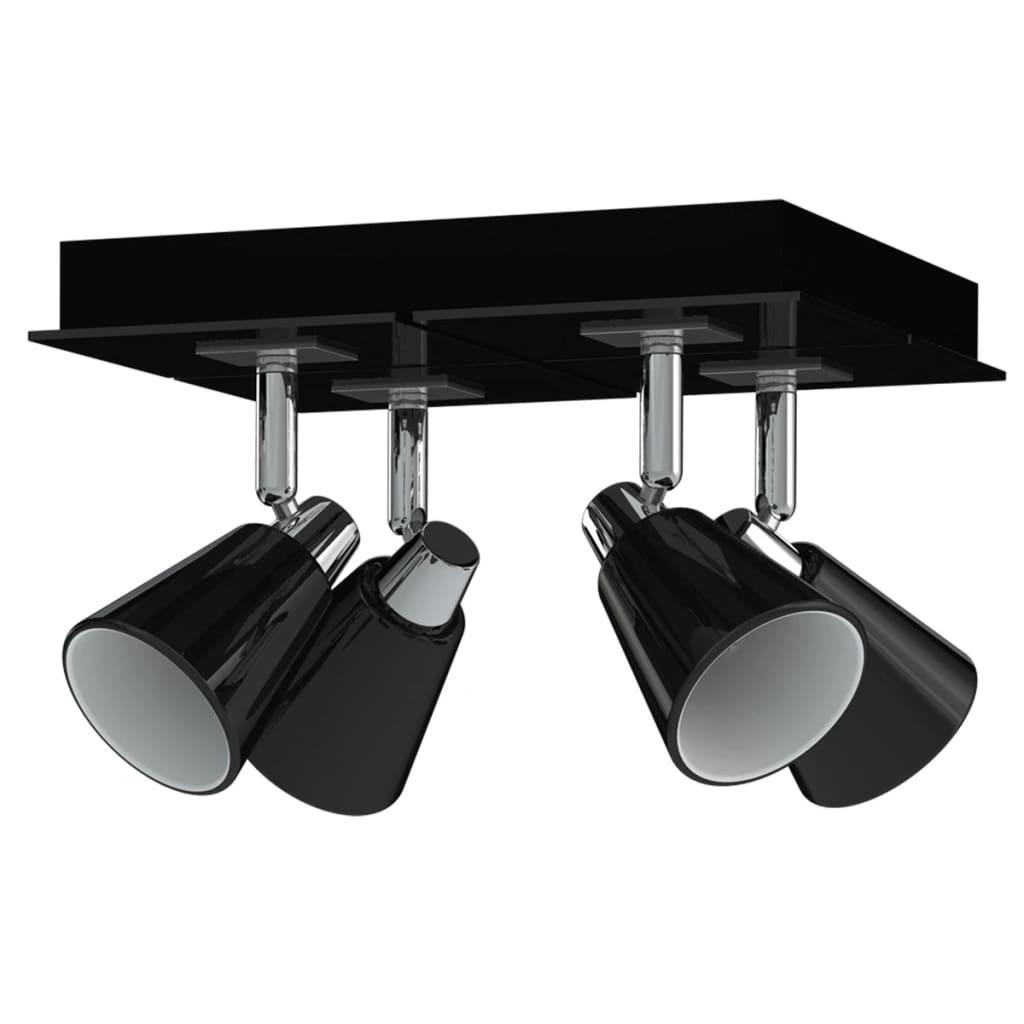 Afbeelding van Antonio Miro Plafondlamp spotjes Chrome Zwart (4 stuks)