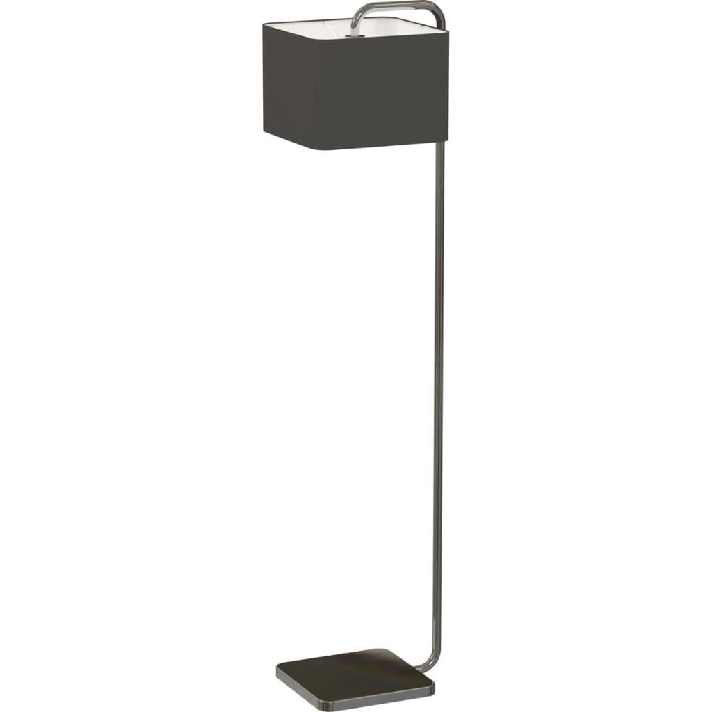 Antonio-Miro-Lampadaire-Cube-Noir-Chrome-Eclairage-Lampe-de-Sol-Lumiere miniature 2