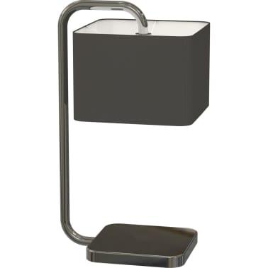 Lámpara de mesa en forma de cubo negro cromado, Antonio Miro[1/4]