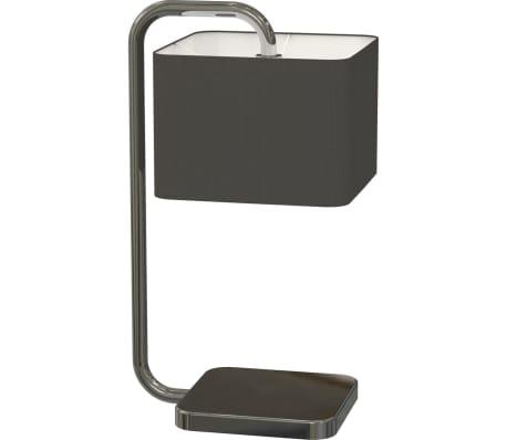 Lámpara de mesa en forma de cubo negro cromado, Antonio Miro[2/4]