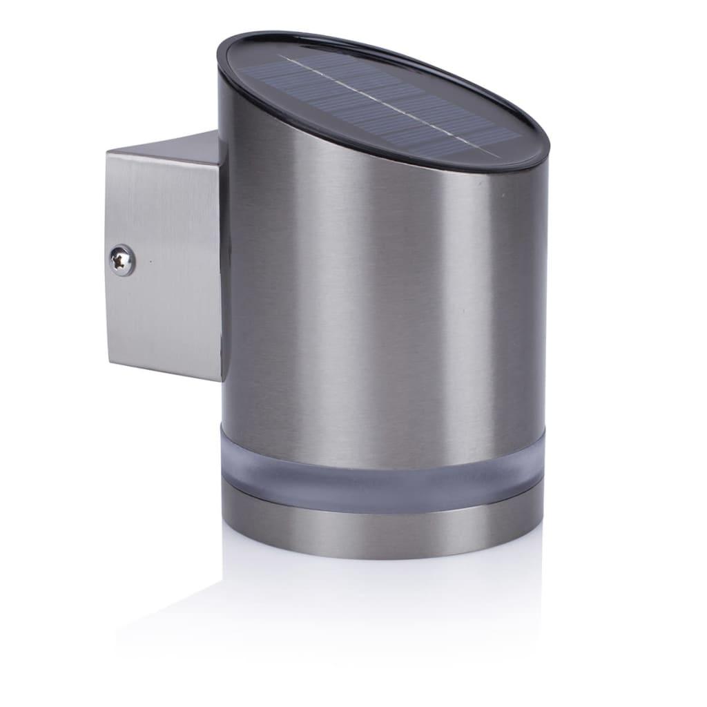 Smartwares Lampă solară de perete cu senzor, 0,5 W argintiu GWS-002-DS vidaxl.ro