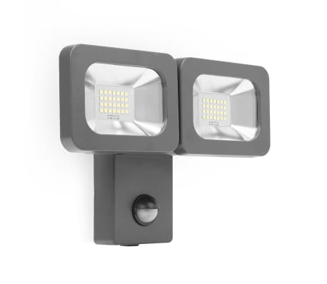 Smartwares Projecteur LED double 2 x 12 W Noir FLD2-A14B[1/8]