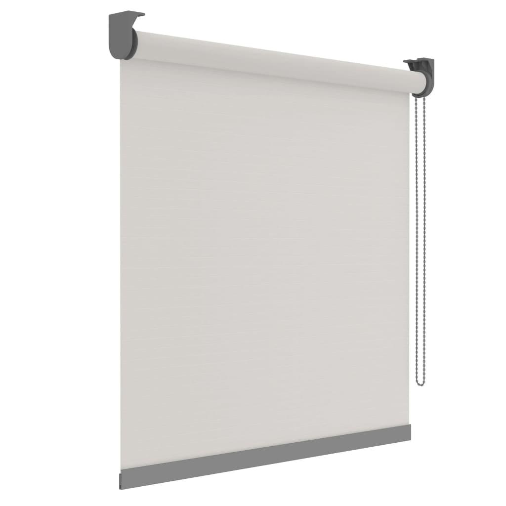 Decosol Rullegardin Deluxe gjennomsiktig hvit med mønster 90x190 cm