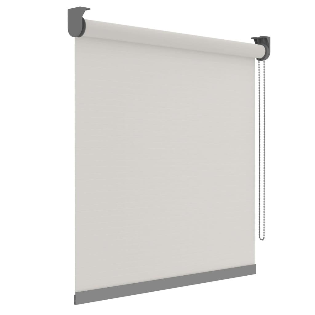 Decosol Rullegardin Deluxe gjennomsiktig hvit med mønster 150x190 cm