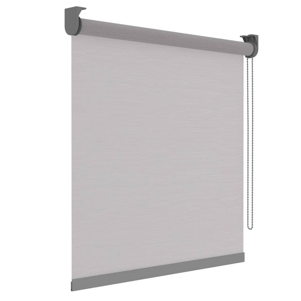 Decosol Rullegardin Deluxe gjennomsiktig hvite striper 120x190 cm