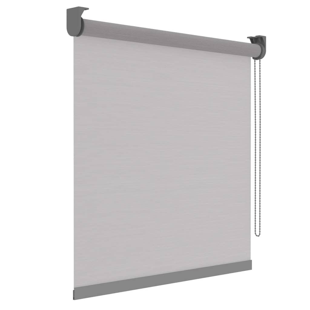 Decosol Rullegardin Deluxe gjennomsiktig hvite striper 150x190 cm