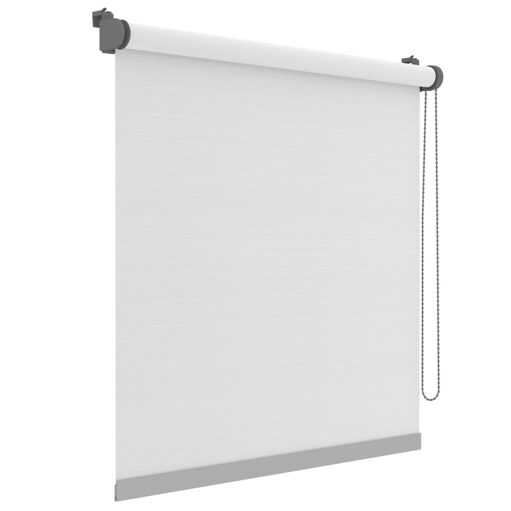 Decosol Minirullegardin Deluxe uni gjennomsiktig hvit stripe 42x160 cm