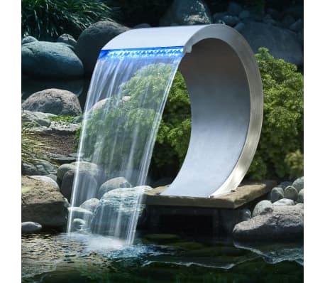 Ubbink mamba wasserfall aus edelstahl mit led beleuchtung for Wasserfall mamba