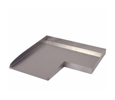 Ubbink Watervalplaat Wolga linkerhoekelement roestvrij staal[2/3]