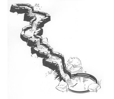 Ubbink Rechtskurven-Element Teich-Wasserfall Colorado Cascade 1312073[3/4]