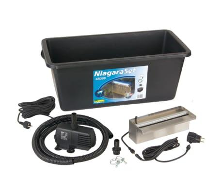 Vodopád Niagara Ubbink 30cm nerez s LED světlem a čerpadlem[3/4]
