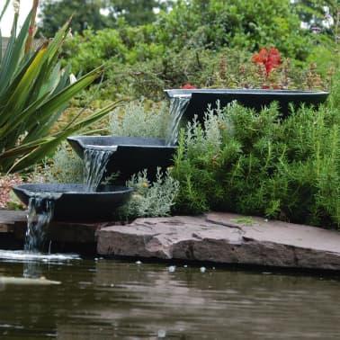 Ubbink Fontaine De Jardin Cascade 3 Vasques Avec Pompe 35 45 55 Cm