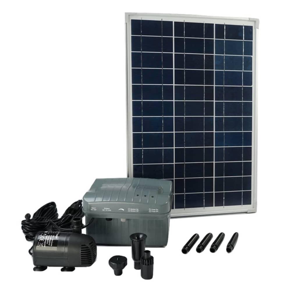 Ubbink Set SolarMax 1000 cu panou solar, pompă și baterie 1351182 imagine vidaxl.ro
