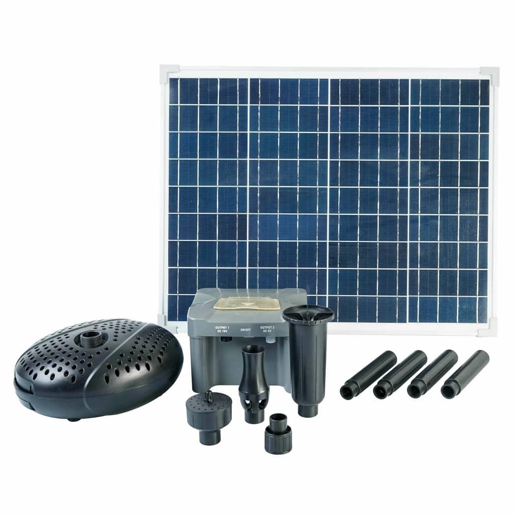 Ubbink Set SolarMax 2500 cu panou solar, pompă și baterie poza vidaxl.ro