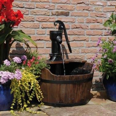 Ubbink Fontaine De Jardin Forme De Tonneau Bois