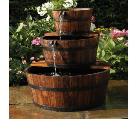 Ubbink Garten Wasserfall Brunnen Holzfass Set 3 Fasser Gunstig Kaufen