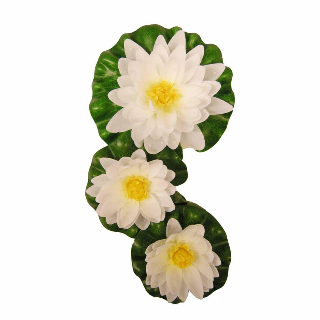 Afbeelding van Ubbink 3-delige Waterlelieset decoratief wit