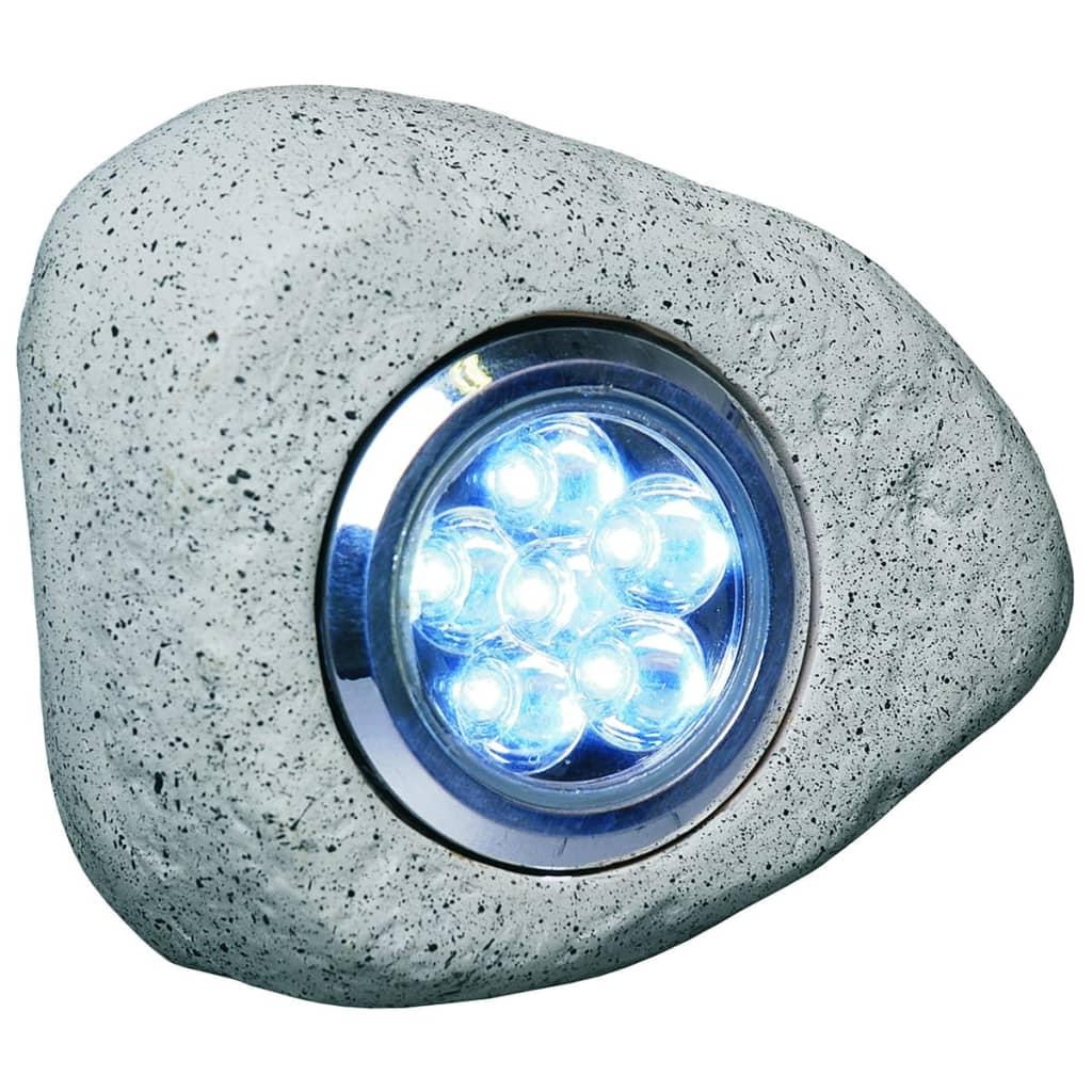 Smartwares Lampă grădină cu LED, model piatră, 3 buc, 2,7 W, gri RS306 poza 2021 Smartwares