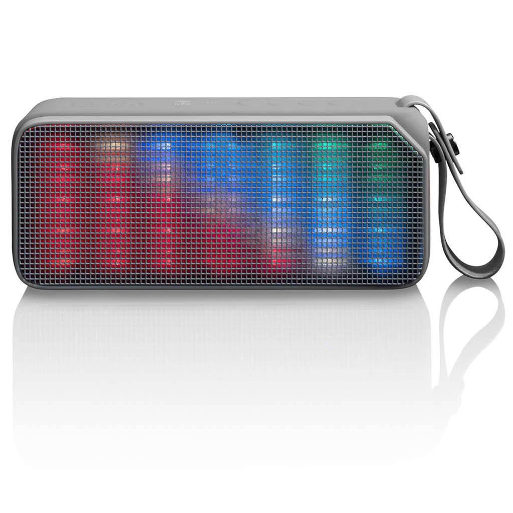 Afbeelding van Lenco Draagbare Bluetooth stereo speaker BT-190 Light grijs