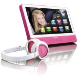 "Lenco Touchscreen Tablet mit DVD-Player 9"" Rosa TDV-900"