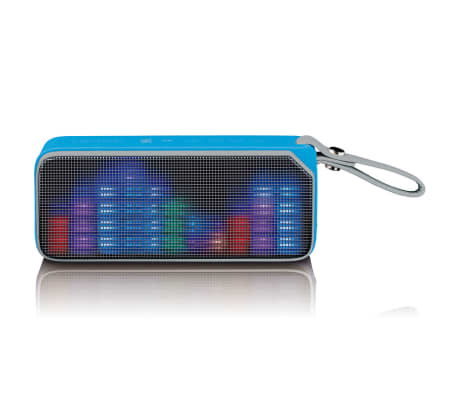 Lenco Altavoz estéreo con bluetooth y luces disco BT-191 azul