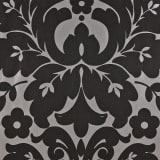 DUTCH WALLCOVERINGS Tapete Medaillon-Design Schwarz und Silbern 6811-7