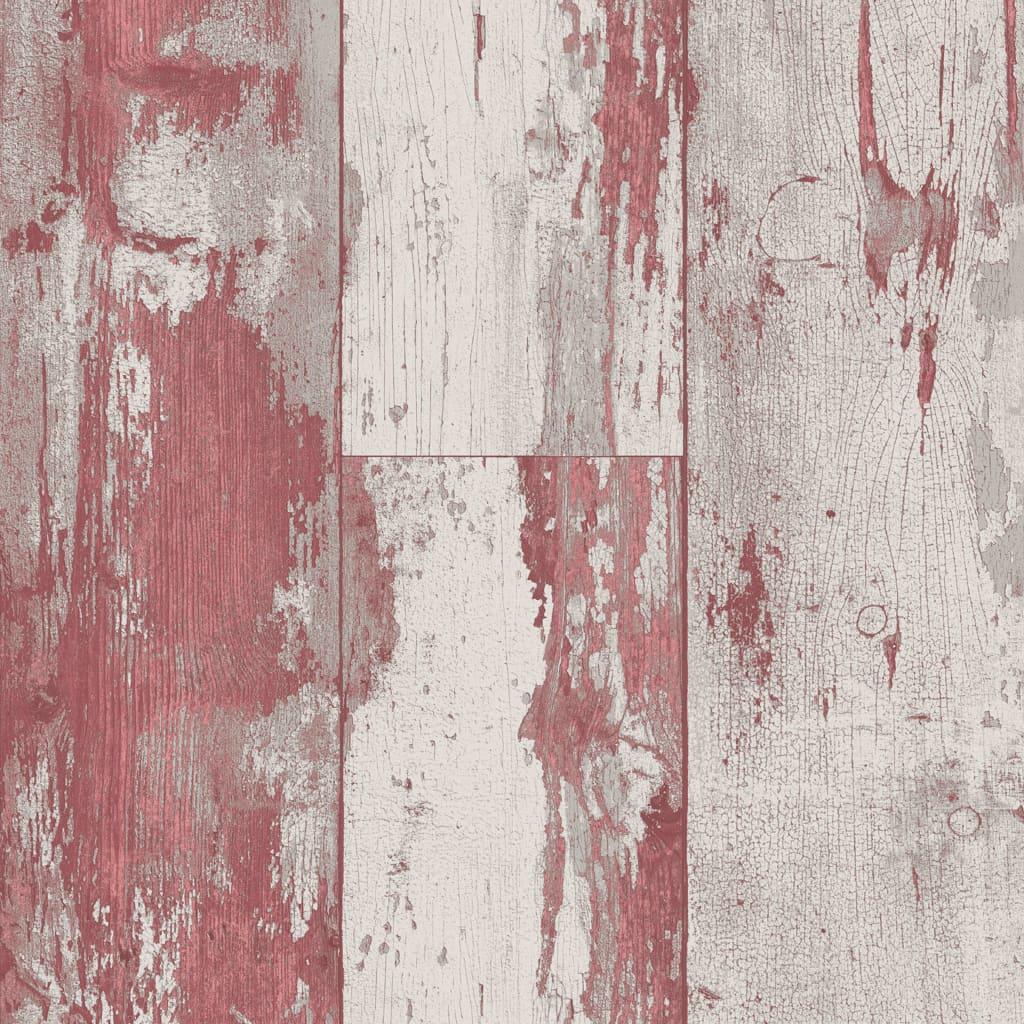 DUTCH WALLCOVERINGS tapet træ rød og beige