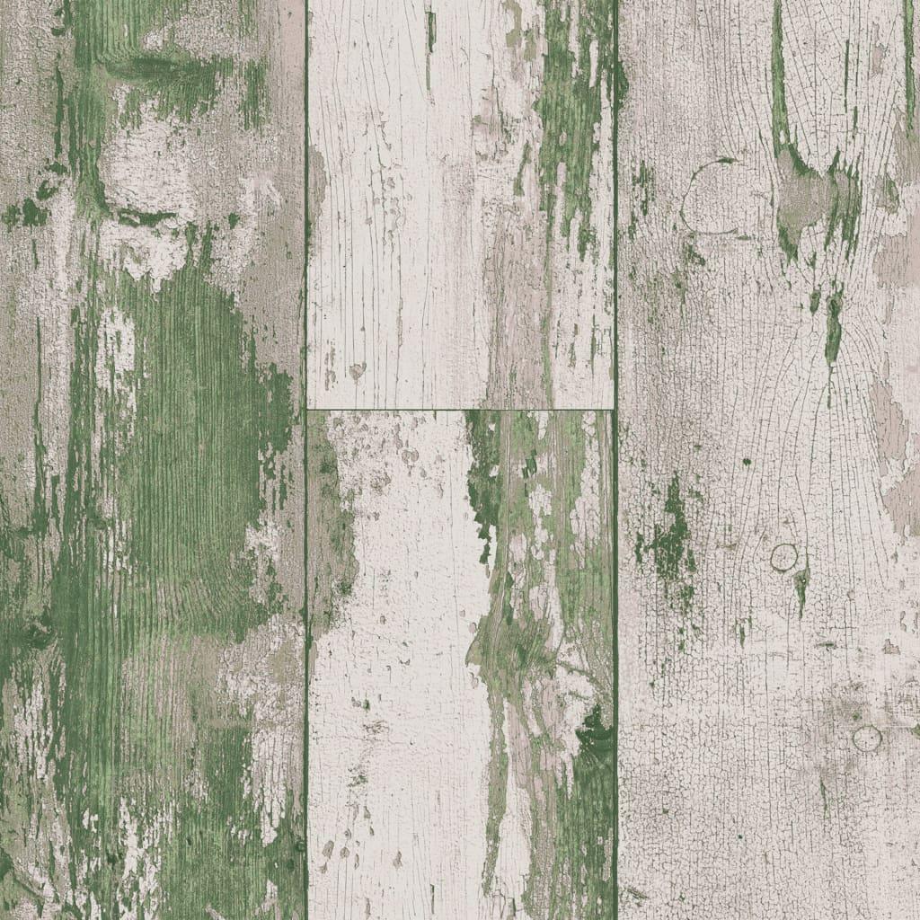 DUTCH WALLCOVERINGS tapet træ grøn og beige