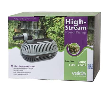 Velda pompa high stream per laghetto 3000 for Pompa esterna per laghetto